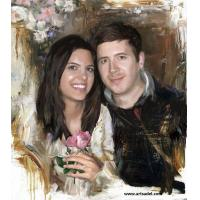 100% Hand-painted High Quality Portrait - Couple Oil Painting on Canvas Manufactures