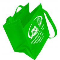 Foldable Non Woven Packaging Bags , Laminated Grocery Tote Bags Custom Printed Manufactures