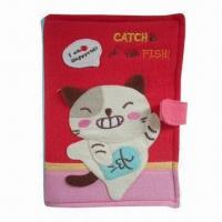 Plush Toy Cloth Books with Colorful Animal Design, Good for Children
