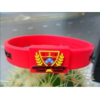 China Non - Toxic Customized Silicone Bracelets , Printed Silicone Bracelets For Sport on sale