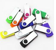 China Metal swivel usb flash drive branded with your company logo bulk 1gb usb flash drives on sale