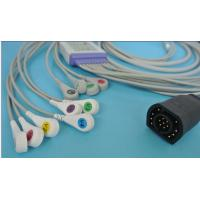 Quality ZOLL 10 lead patient ekg cable; Reusable EKG Cable with leadwires for sale