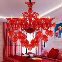 China Italian glass Red Blue Pink chandelier with Crystal Ball For Dining room Kitchen Lighting (WH-CY-154) on sale