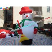 China Customized Outside Inflatable Christmas Decorations PVC 5M Snowman on sale