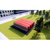 China Diameter 12m Modular box with red color for Outdoor Coffee Shop on sale