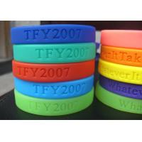 100% Silicone Colourful Debossed Personalized Custom Silicone Wristband / BraceletsFor Adult Manufactures
