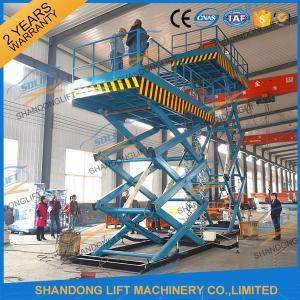 China 3T 7.6M CE Heavy Load Hydraulic Scissor Lift Fixed Auto Ladder Cargo Scissor Lift on sale
