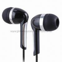 Wired Earphones, Suitable for CD, iPod, MP3, MP4, DAB Radio and All Kinds of Music Player Manufactures