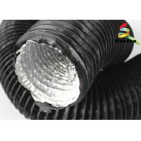 Quality Greenhouse Ventilation Fire Rated Flexible Ducting , Black PVC Aluminum Foil Duct for sale