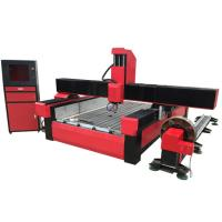 China Stone cnc router marble carving machine with worktable size 1300*2500mm KC1325S on sale