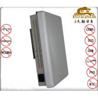 Stainless Steel White Cell Phone Signal Scrambler Jamming Distance 1-30m Material Manufactures