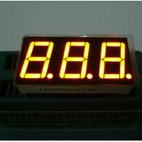 Triple Digit 7 Segment LED Display Yellow Color For Electric Oven / Microwave Manufactures
