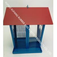Lovely Unique Bird Feeders House Shape Suet And Seed Hanging Red Roof 650g Weight Manufactures