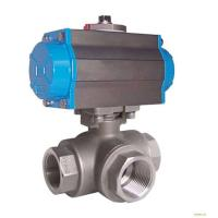 Silver Actuated Pneumatic Ball Valve Fire Protection Design With Thread Manufactures