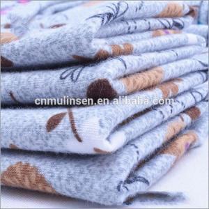 China Rusha Textile  Knitting Cute Pattern Printed Poly Ring Spun Single Jersey Fabrics Wholesale Overseas on sale