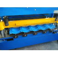 Hydraulic Cutting Roof Glazed Tile Roll Forming Machine PLC Automatic Control Manufactures