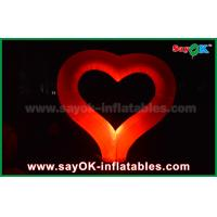 China Nylon Cloth Party Inflatable Light Decoration Red Heart Shape For Event Wedding on sale