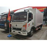 1 - 10 Ton Van Cargo Box , HOWO Left Hand Driving Mini Cube Truck 6.50R16 Tire Manufactures
