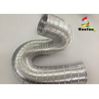 High Temperature Flexible Semi Rigid Aluminum Flexible Pipe For Hot Air Manufactures