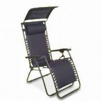 China Beach Chair with Canopy, 300lbs Loading Capacity and Ø22 x 1mm Steel Tube on sale