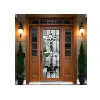China PANEL DOOR  Embroidered Glass / Inlay Glass Sheets  beveled clear glass on sale