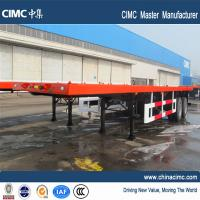 double axle trailer flatbed container semi trailer with container twist locks Manufactures