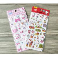 Decorative Custom Puffy Stickers , Lovely Hello Kitty Cartoon Kids Foam Stickers Manufactures