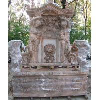 Garden stone wall fountain carving statue water fountain ,stone carving supplier Manufactures