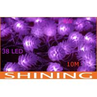 Outdoor Purple 40pcs Bulbs Waterproof LED String Lights 50000h 220 Volt Manufactures