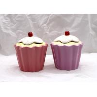 Pink Ceramic Kitchen Canisters Dolomite Strawberry Ice Cream Curl Cone Cookie Jar Manufactures