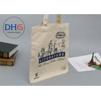 Large Navy Natural Cotton Canvas Tote Bag Cross Stitching Handle Eco Friendly Manufactures