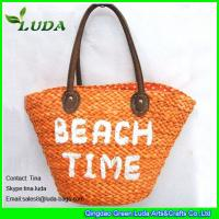 LUDA embroidery letters cornhusk straw bags for summer 2016 Manufactures