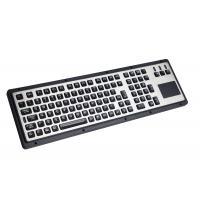 106 Keys IP65 Brushed Steel Liquid Proof Ruggedized Keyboard With Touchpad Manufactures