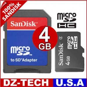 4GB MicroSD Micro SD SDHC Flash Memory Card 4 GB G New Manufactures