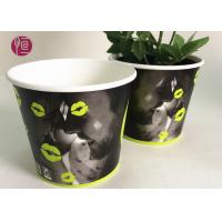 Custom Blue Design Keep Calm Flower Paper Bowl For Water Plant Manufactures