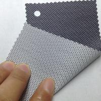 Black - white sun shade fabric for windows 30% polyester 70% PVC mesh fabric Manufactures