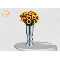 Indoor Small Fiberglass Planters Table Vases Silver Mosaic Glass Finish Manufactures
