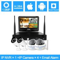 2.4G 720P Water Proof Wifi IP Full CCTV Cameras Kits With 2 Bullet + 2 Dome Manufactures