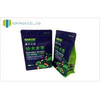 Block Bottom Coffee Packing Bags Custom Ziplock Closure Pouch 250g / 500g / 1000g Size Manufactures
