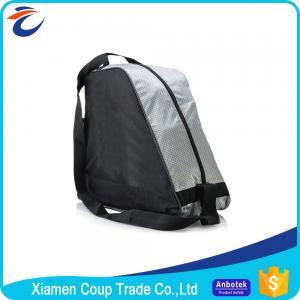 Adjustable Shoulder Straps Ice Skate Bag / Kids Roller Skate Bag Independent Pocket Manufactures