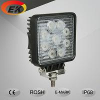 China High quality 12v 9x3w 5inch 27w led work light for trucks boat offroad on sale