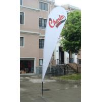 Knitted Fabric Outdoor Advertising Flags And Banners Luxury Cross Base Manufactures