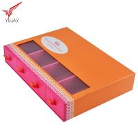 Custom Logo Printing Food Packing Boxes Sliding Chocolate Drawer Box With PVC Window Manufactures