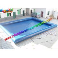 China Plato 0.9mm PVC Blue Intex Inflatable Swimming Pools For Kids / Adults on sale