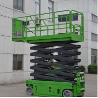 China Electrical Self Propelled Scissor Lift 12m Elevated Work Platform For Work Shop on sale