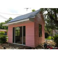 EPS Sandwich Panel Roof Pink Cladding Prefab Steel House For Reception Room Manufactures
