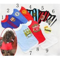 Cotton T-shirts Soccer football Costumes / dog sports jerseys 9 Clubs Manufactures