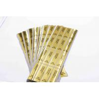 Gold Round Security Self Adhesive Hologram Sticker Labels Semi Gloss Paper Manufactures
