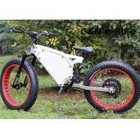 Electric Fat Tire Mountain Bike With Electric Hub Motor , Fat Tire Motorized Bicycles Manufactures
