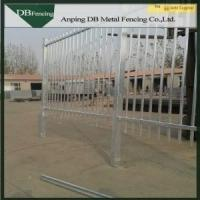 Hot Dip Galvanized Black Wrought Iron Fence Panels , Outdoor Steel Security Fence Manufactures